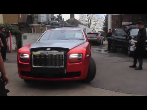 Rolls Royce Ghost >> Rolls Royce Ghost gets wrapped CHROME satin red! - YouTube