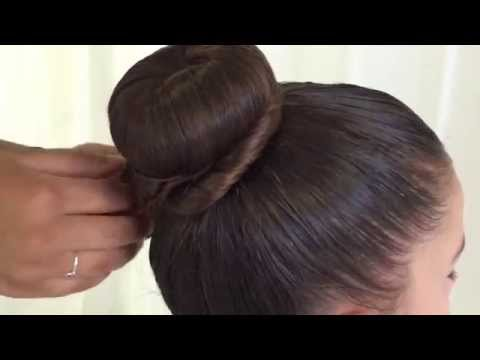 Dance Hairstyle Tutorial - Donut Bun (with twists)