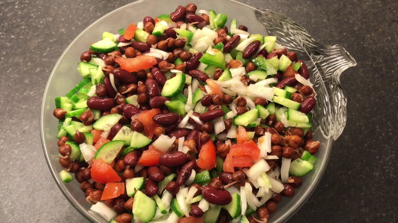Red Kidney Beans Salad Beans And Cucumber Salad Diet Salad Nina Recipe Youtube