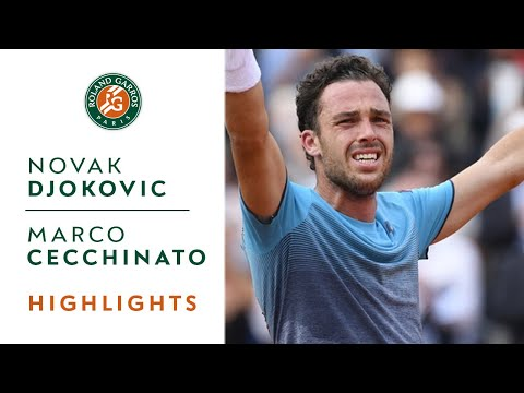 Novak Djokovic vs Marco Cecchinato - Quarterfinals Highlights I Roland-Garros 2018