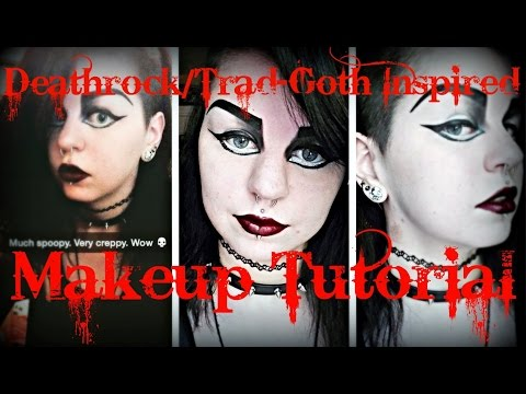 Deathrock/Trad Goth Inspired Makeup Tutorial | Astrid Aesthetic