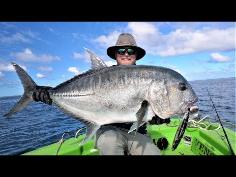 Crazy GT Bite: 3 Giant Trevally In 5 Casts And A 20kg+ Mackerel At Swains Reef
