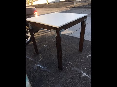 DIY Counter Height Dining Table Project. Rustic Wood.  Easy project for all levels.