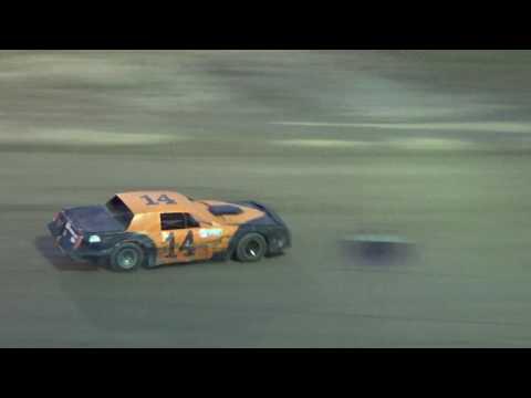 Street Stock Heat Race #2 at I-96 Speedway, Michigan on 08-25-16.