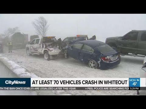 At least 70 vehicles crash in Hwy. 400 whiteout