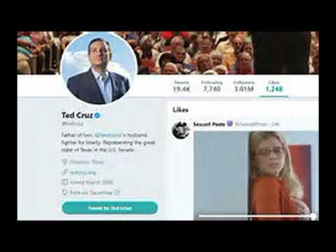 Ted Cruz Likes Porn Video On twitter !!!! (Not a Big Deal)