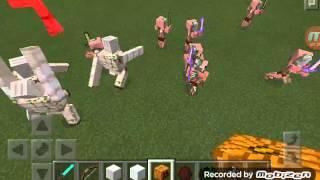 Как сделать жел. голема и снеговика в Minecraft PE