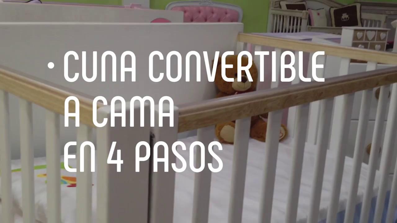 Cuna Convertible a Cama en 4 Paso - YouTube