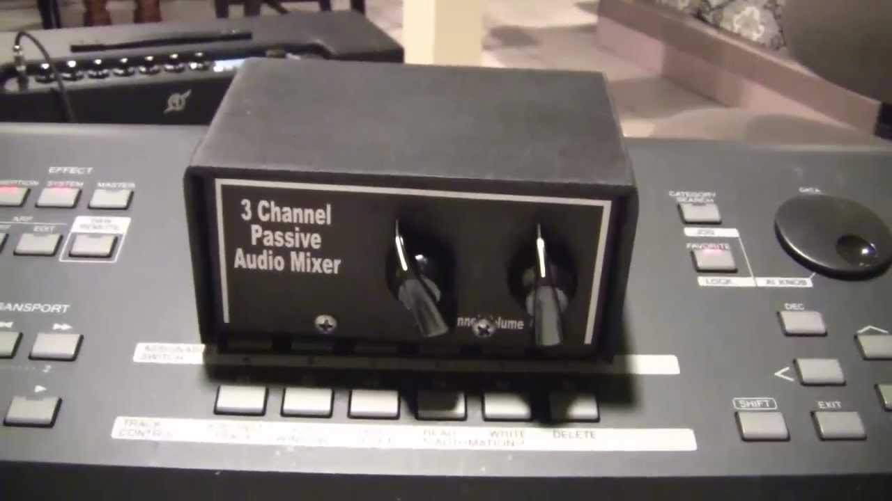 cheap audio mixer expands your guitar amp 39 s inputs build it youtube. Black Bedroom Furniture Sets. Home Design Ideas