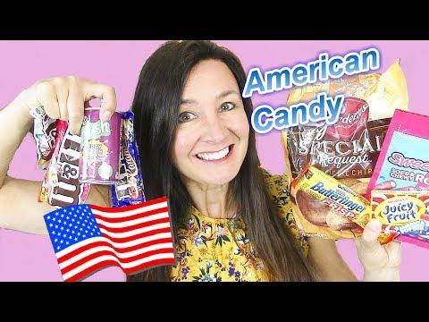 AMERICAN CANDY TASTE TEST  Caramel M&Ms SweetTart Rope