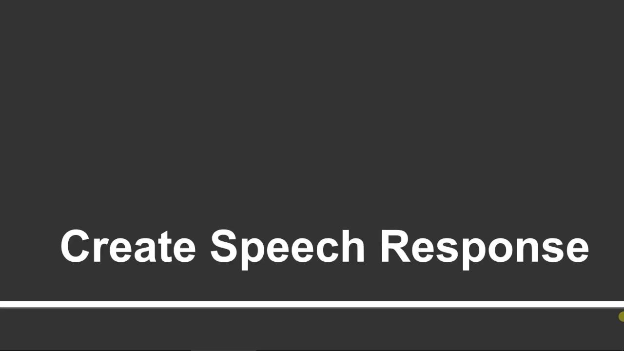 Create Speech Response in Microsoft Bot Framework | Part - 35 | Tutorials  Team
