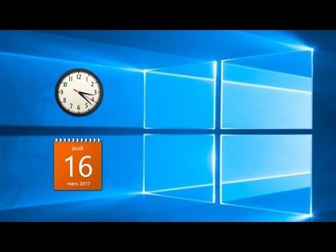 Comment avoir l 39 horloge et les gadgets sur le bureaux de windows 10 youtube - Horloge bureau windows 7 ...