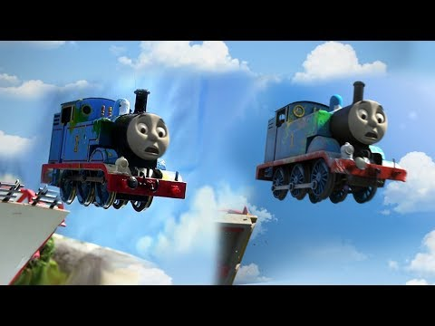 Vicarstown Bridge JUMP! Great Race Remake Comparison - Thomas & Friends OO/HO