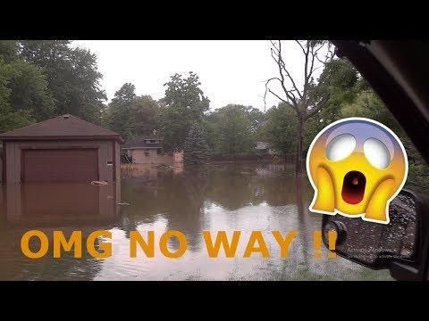 Flooding in Ingleside Illinois 7/12/17