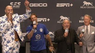 Never change, Tyson Fury! Gypsy King sings American Pie at press conference