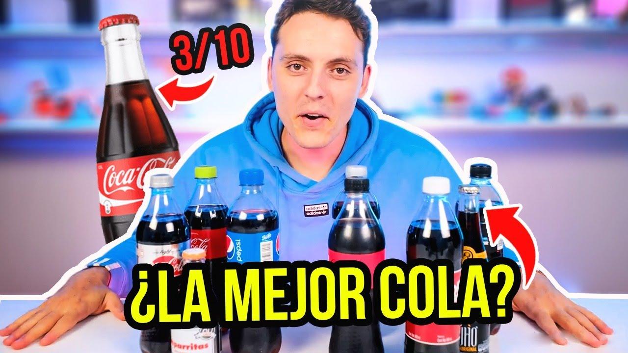 PROBÉ 10 BEBIDAS de COLA en 1 DÍA ¿Cual es la Mejor Bebida Sabor Cola? Coca Cola vs Pepsi Cola