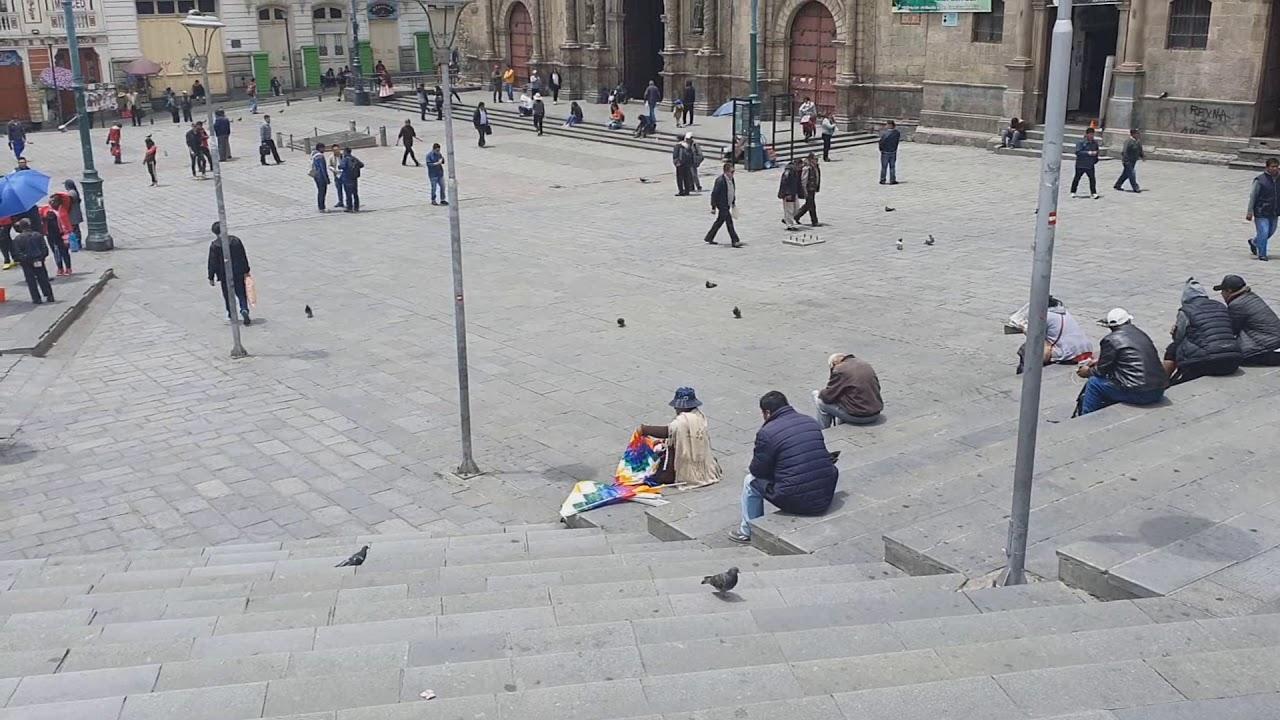 13 de noviembre de 2019 en la Plaza San Francisco y en el Centro de La Paz
