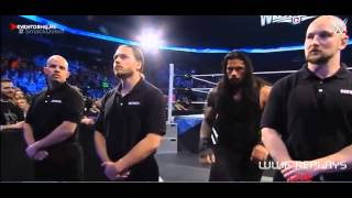 Roman Reings vs Seth Rollins and Kane,Randy Orton attack Seth Rollins, Smackdown 03-19-2015