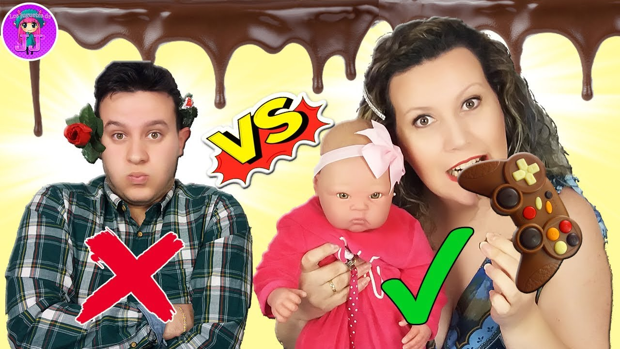 Chocolate Vs Real Challenge Me Como El Mando De La Play