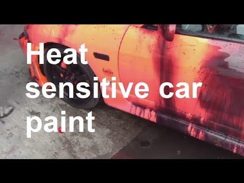 Amazing heat sensitive car paint (Thermochromics  car paint)