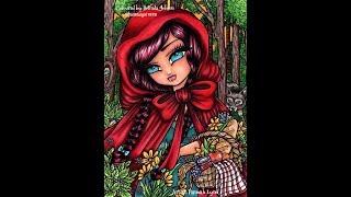 Speed Coloring | Red Ridding Hood Hannah Lynn