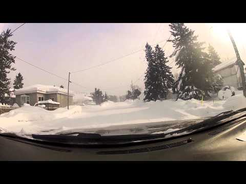 A Cruise through the streets of the Federal area of Kirkland Lake