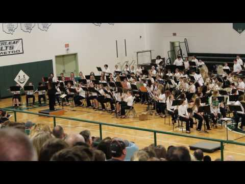 """Cloverleaf Middle school 7th Grade Band """" Highlights From Aladdin"""""""