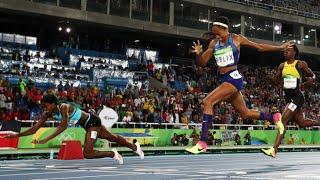 Shaunae Miller & Allyson Felix Wins 400m at Rio Olympics 2016