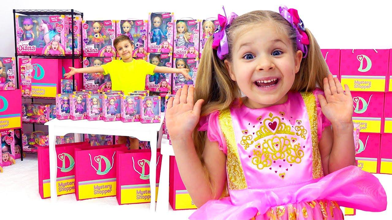 Диана и Рома играют в магазин игрушек Love, Diana