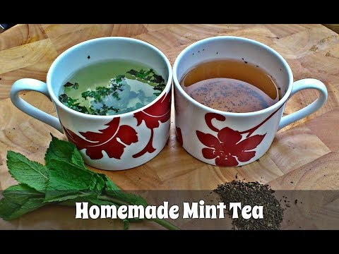 Mint Tea Recipe Using Fresh OR Dried Mint Leaves - YouTube