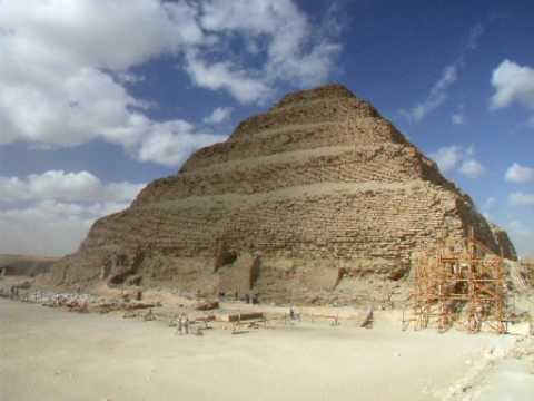 Step Pyramid and Zoser's Funerary  Complex at Saqqara Egypt