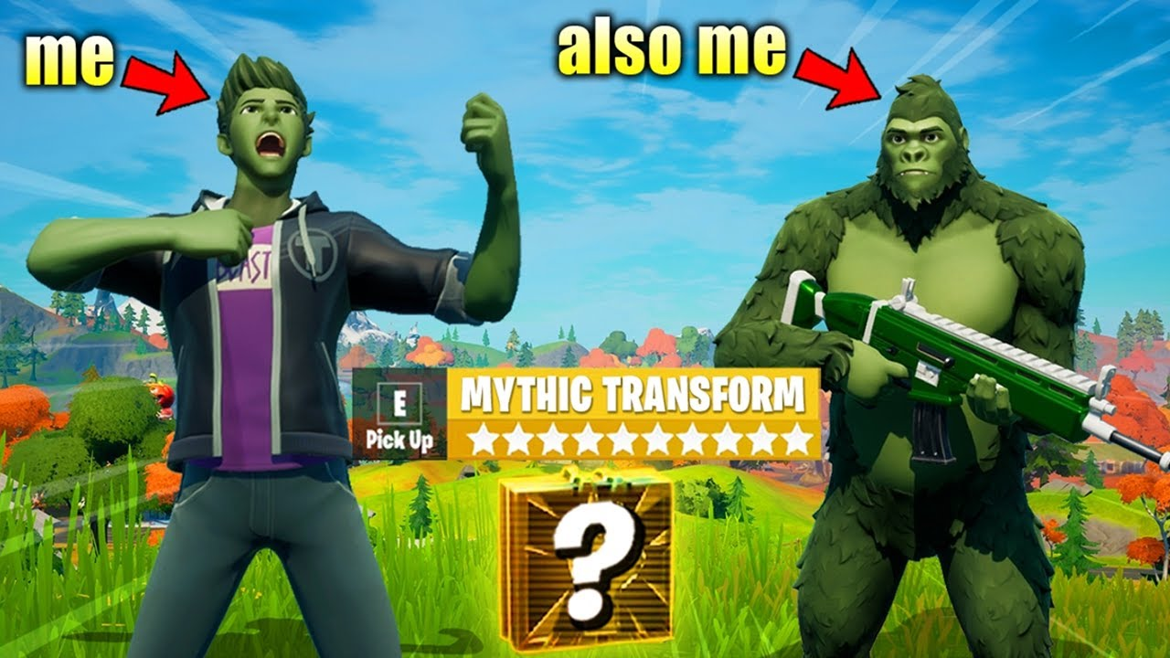 I Pretended to be BEAST BOY in Fortnite