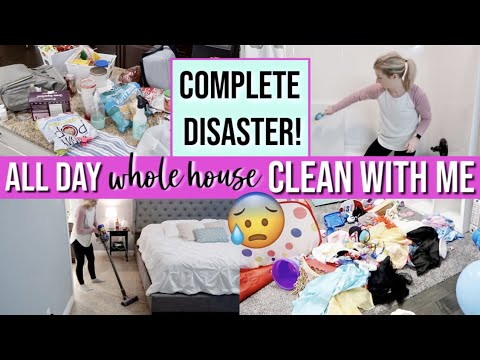 *NEW! 😱COMPLETE DISASTER WHOLE HOUSE CLEAN WITH ME 2019 | ALL DAY CLEAN | MAJOR CLEANING MOTIVATION