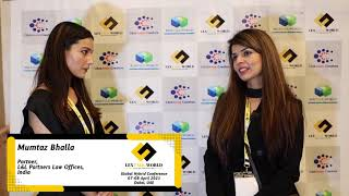 Ms. Mumtaz Bhalla sharing her thoughts on the LexTalk World Conference, Dubai 2021
