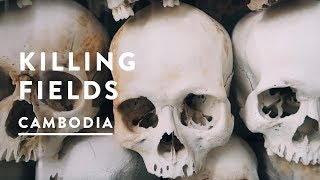 KILLING FIELDS IN PHNOM PENH - KHMER ROUGE | Cambodia Travel Vlog 014, 2017