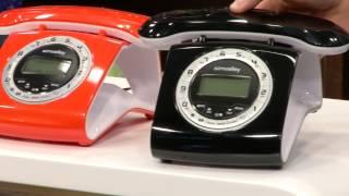 simvalley Retro-DECT-Schnurlostelefon mit Anrufbeantworter, orange