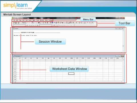 minitab screen layout minitab tutorial online minitab