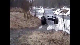 тракторные мосты МТЗ 82 и арочные колеса на Nissan Patrol U60