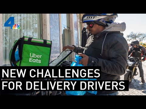Food Delivery Drivers Face New Challenges During Pandemic   NBCLA