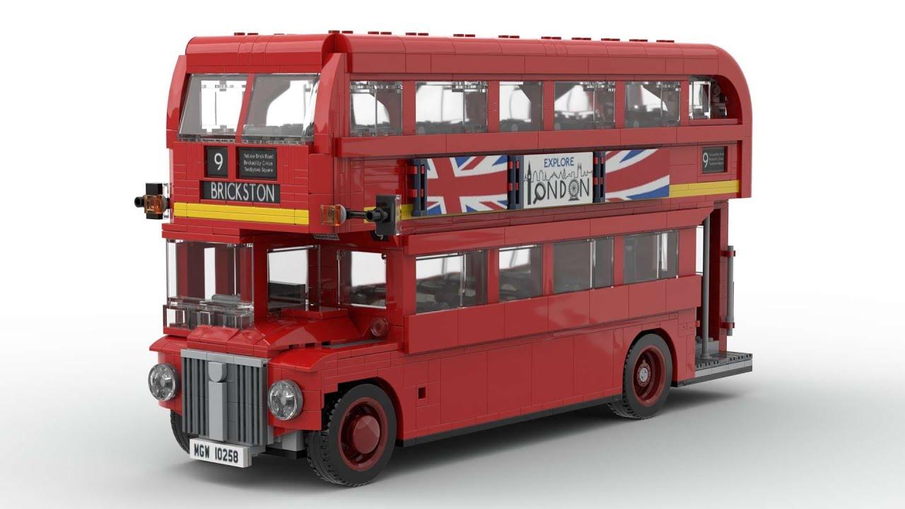 lego 10258 london bus speed build ldd youtube