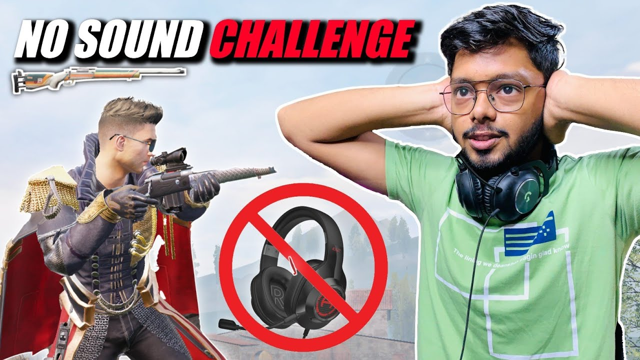 No Sound Challenge 🔥 Crazy Match Sniper Only M24 ❤️ | 1v1 TDM No Game Sound | Android Gamer | BGMI