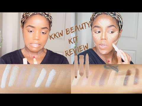 KKW BEAUTY HIGHLIGHT CONTOUR KIT REVIEW | ISSA YES or NO? | Ellarie