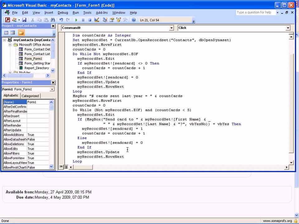 Loops and RecordSets in Access VBA