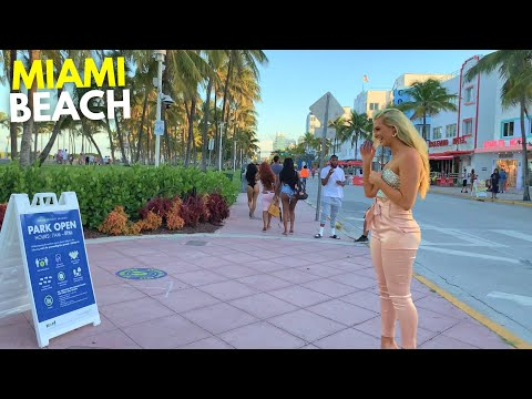 4K Miami Beach Walk South Beach Miami, FL
