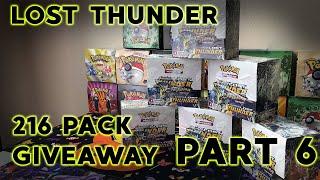 Pokemon Lost Thunder Case Opening GIVEAWAY! FULL CASE RECAP! :0 Part 6/6