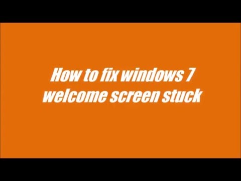 how to fix windows 7 welcome screen stuck youtube. Black Bedroom Furniture Sets. Home Design Ideas