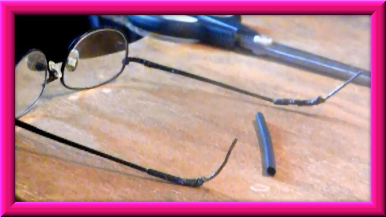 Eyeglass Frame Temple Covers : How To Repair The Temple Tips On Your Eyeglasses - YouTube