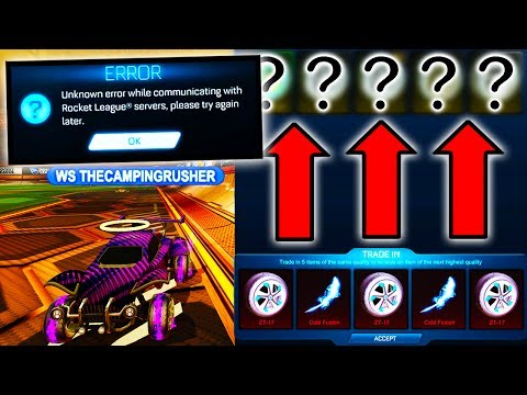SECRET ITEM FROM NEW TRADE UP?! ( Rocket League Myth Busting )