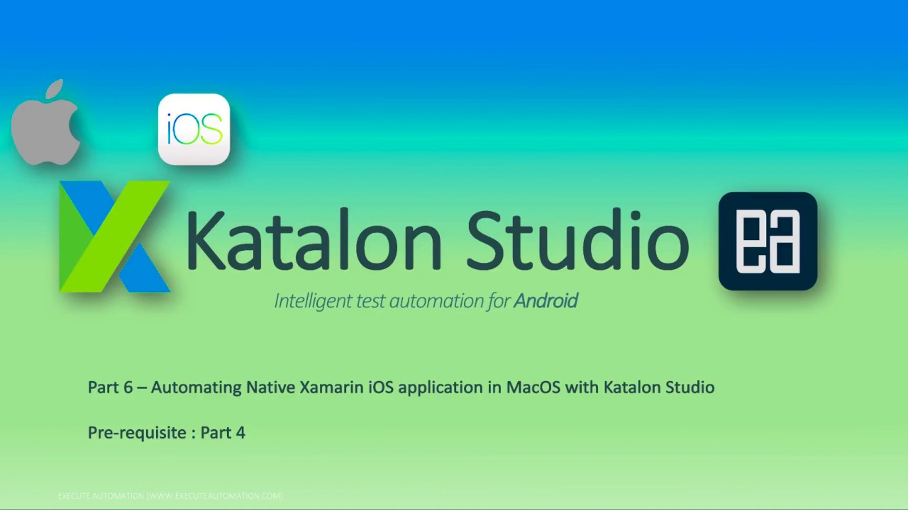 Automating Native Xamarin iOS application in MacOS with