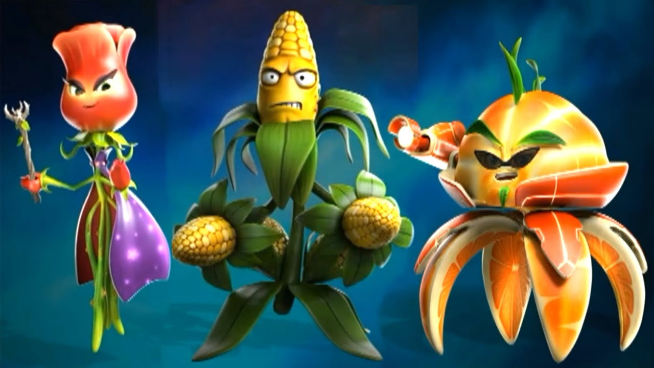 Citron from plants vs zombies garden warfare 2 plants vs zombies - Plants Vs Zombies Garden Warfare 2 All New Plants Citron Rose Kernel Corn Youtube
